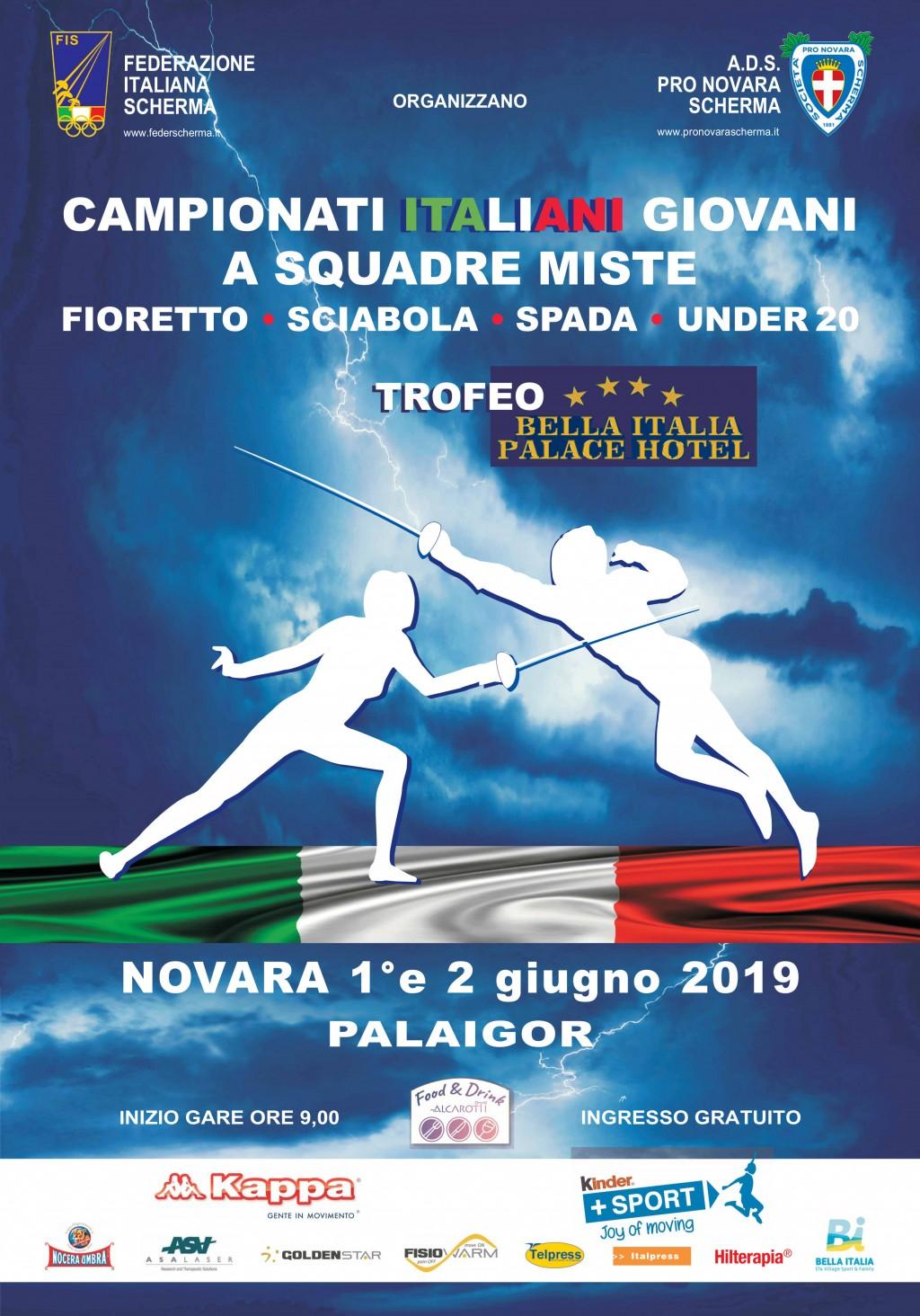 CAMPIONATI ITALIANI GIOVANI A SQUADRE MISTE- PALAIGOR NOVARA 1°e 2 GIUGNO 2019