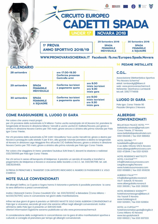 European Cadets Championship - Novara