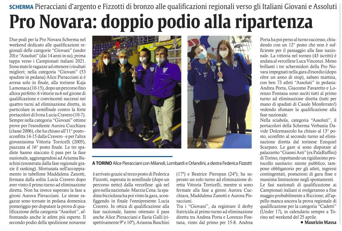 Corriere di Novara - 29-04-2021 - Pronovara